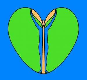 Unifying Field, artistduo Huub & Adelheid Kortekaas, De Tempelhof, The Tempelhof, logos, Seedling, Golden Plant, Haert, unify, Paece, worldpeace, awareness
