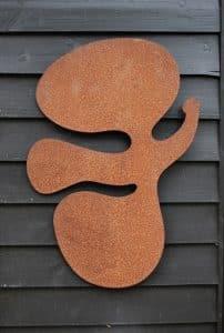 Ikoon, icoon, cortenstaal, Kunstenaars Adelheid & Huub kortekaas, vogel,