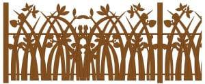 Icons, gate, Flower, Plant, Artistduo Huub & Adelheid Kortekaas, art, sculpture, design, street-architecture, garden architecture, garden design, Quantum Art,