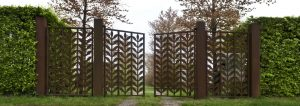 Icons, gate, iconography, Fences, 33 Gates between Earth and Heaven, entrance gate, Flower, Plant, Artistduo Huub & Adelheid Kortekaas, art, sculpture, design, street-architecture, garden architecture, garden design, Quantum Art,