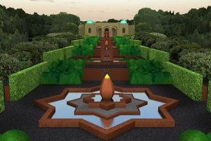 universeel, Quantum Art, Kunstenaars Adelheid & Huub kortekaas, universele tuin, The Spiritual Garden, wereldreligies, spiritualiteit, geestkracht, tuinarchitectuur, tuinontwerp, landschapskunst,