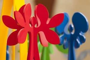 Zaaiproject, 99.999 Bloemen, plexiglas, Which Flower are You?, Zaaiproject 99.999 MensBloemen, Gouden Plant , kunstenaarsduo Adelheid & Huub Kortekaas, De Tempelhof,